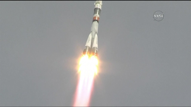 [NATL] Watch: American, Russian Blast off to International Space Station