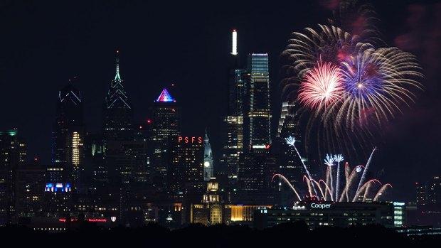 Fireworks Light Up the Philly Sky