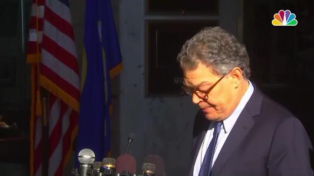 [NATL] Franken Says He is 'Embarrassed' and 'Ashamed' After Groping Allegations