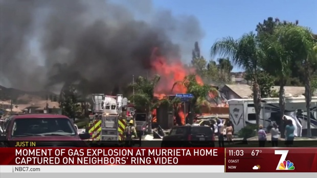 Moment of Gas Explosion at Murrieta Home Captured on Video