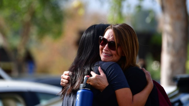 [NATL LA] Pictures: Students Reunite After 16-Year-Old Classmate Opens Fire on Northern LA School Campus