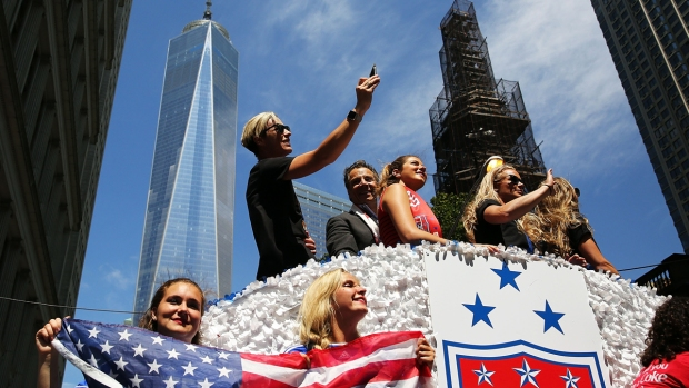 [NATL] PHOTOS: NYC Holds Ticker-Tape Parade for World Cup Champions