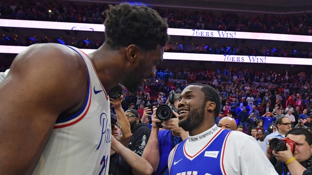 Celebs in the Stands: Freed Meek Mill at 76ers Win
