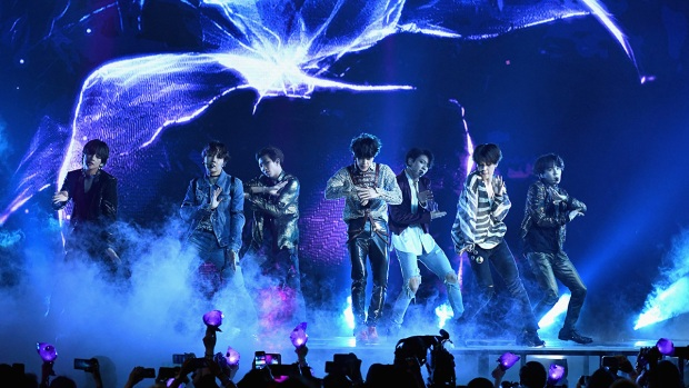 Top Celeb Photos:  BTS Performs at Billboard Music Awards
