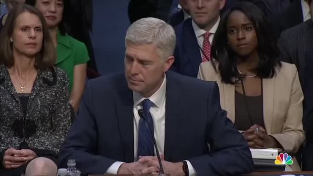 [NATL] Gorsuch: Judicial Decisions 'Not About Politics'