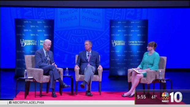 [PHI] Joe Biden and John Kasich Speak at University of Delaware