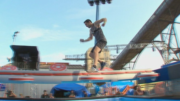 Keith Jones Tries Out American Ninja Warrior Course