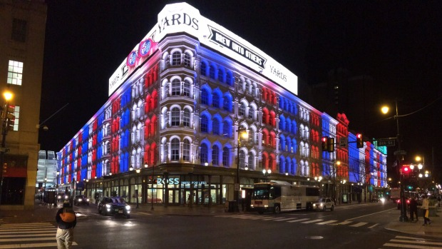 Philly Buildings Light Up for Paris
