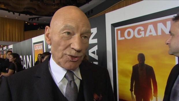 Patrick Stewart at 'Logan' Screening