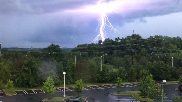 Lightning, Hail, Flooding Hit Region