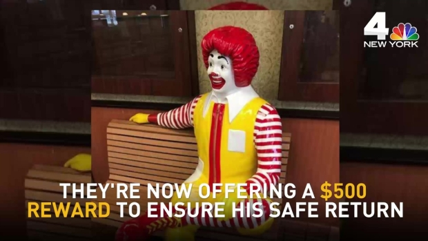 [NY] Life-Size Ronald McDonald Statue Goes Missing in NJ
