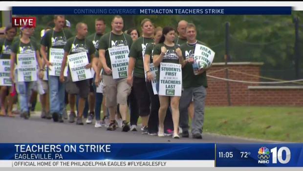 [PHI] Methacton School Teachers Walk Picket Lines