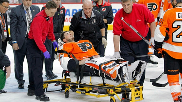 Flyers Goalie Michal Neuvirth Suddenly Collapses