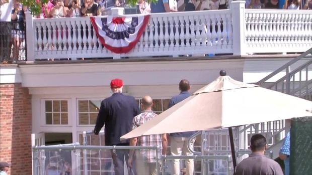 Trump Gets Warm Welcome at US Women's Open