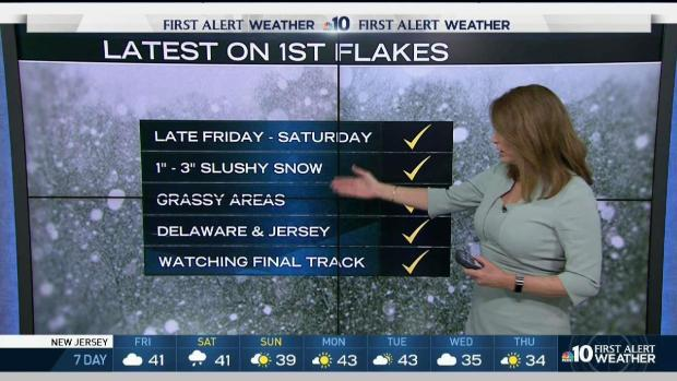 [PHI] NBC10 First Alert Weather: Tracking First Flakes of Season