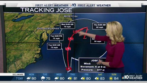 Jose to swipe northeastern U.S. with rain, wind and rough surf