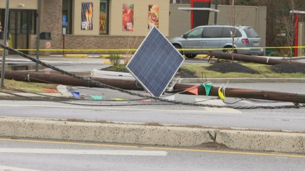 High Winds Bring Down Power Lines in South Jersey