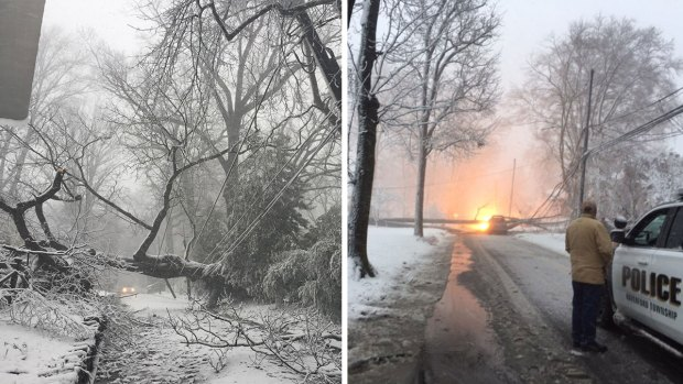 PHOTOS: Major Storm Brings Damaging Wind, Rain and Snow to Area