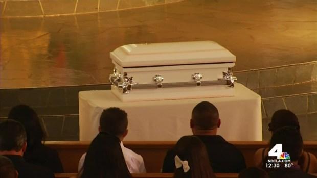 [LA] Family Mourns 3 Slain Girls at Funeral