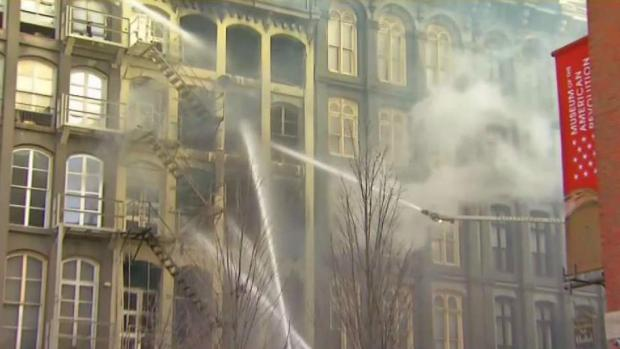 Old City Fire Leaves Dozens Evacuated and Museum Closed