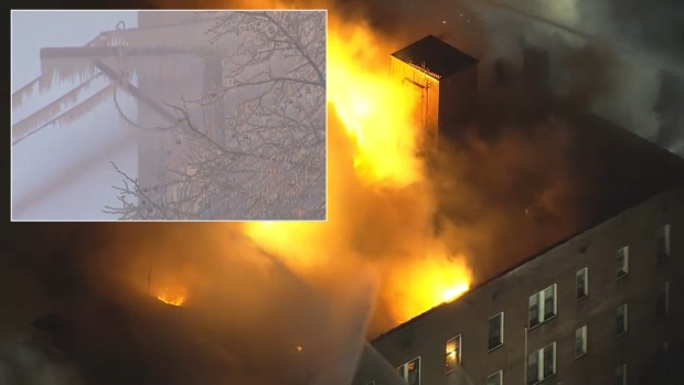 Firefighters Battle Fire and Ice at Overbrook Apartments