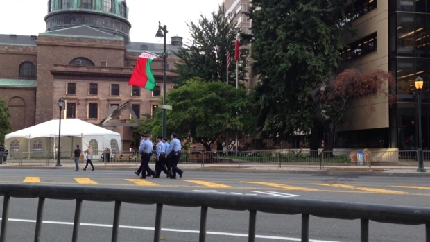 Security Preps Along the Parkway
