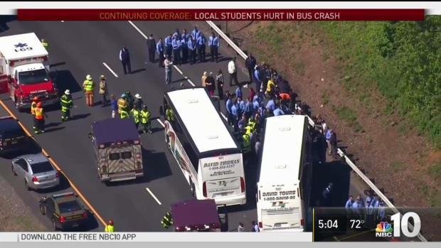 Philadelphia Officials on Scene of I-95 Bus Crash