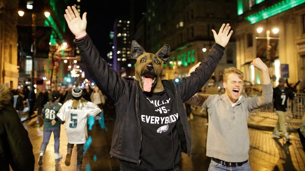 Rowdy Fans Hit the Streets After Eagles Super Bowl Win