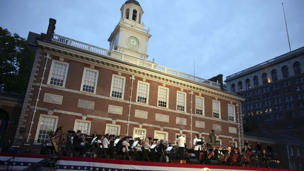 Philly POPS Orchestra Performs at Independence Hall