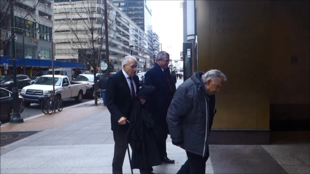 Basciano Arrives for Deposition in Building Collapse Case