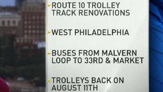 [PHI] SEPTA Projects Could Affect Travel Through Early August