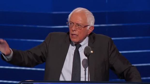 [NATL] Sanders Endorses Clinton at DNC, Calls for Party Unity