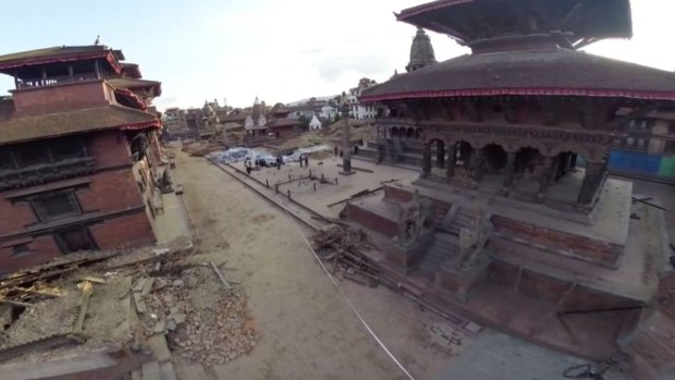 WATCH: Aerial View of Nepal Earthquake