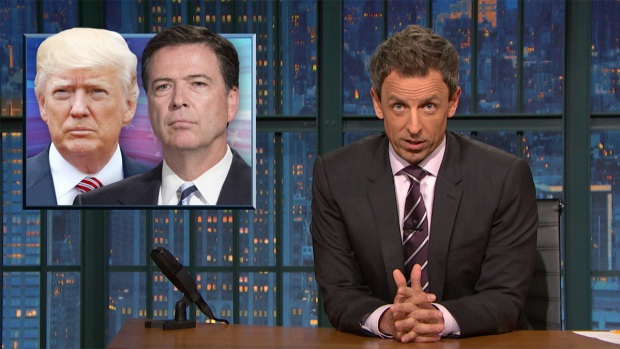 [NATL] 'Late Night': Closer Look at Comey's Testimony on Trump