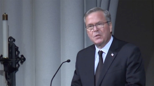 [NATL-BAY] Jeb Bush Reads Wedding Anniversary Letter From Dad to Mom