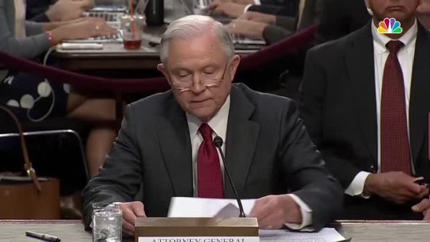 [NATL] 'An Appalling, Detestable Lie': Sessions Denies Russian Collusion During 2016 Presidential Campaign