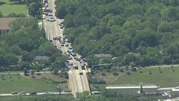 Dallas Medic Shot Responding to a Call for Help (Aerial)