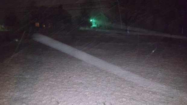 Snow Showers Hit Region