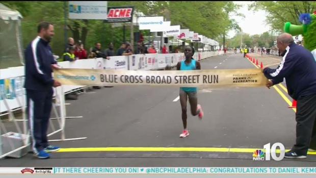First Female Finisher at Blue Cross Broad Street Run