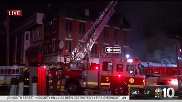 [PHI] South Street Restaurant Fire Burns for Hours
