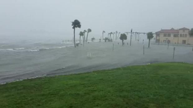Flood Waters Overtake Florida Seawall