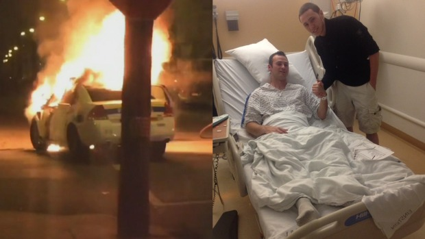 Officer Thanks Teen Who Saved Him From Burning Car