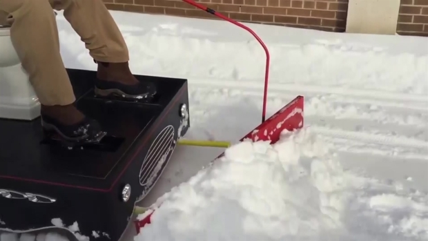 Md. Man Plows Snow With Motorized Toilet