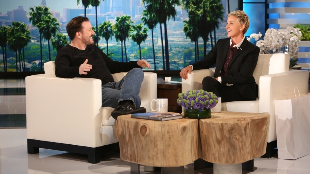 [NATL] Ricky Gervais Talks to Ellen About Hosting the Golden Globes for 4th Time