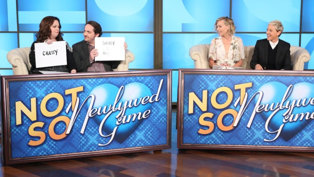 [NATL] 'Ellen': The Not-So-Newlywed Game With Portia de Rossi and Melissa McCarthy