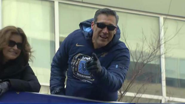 Villanova Coach Jay Wright Ribs NBC10's Keith Jones