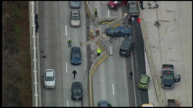 [PHI] Raw Video: Multi-Vehicle Crash Shuts Down Route 202