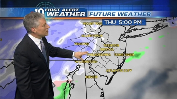 [PHI] NBC10 First Alert Weather: Snow Coming, Jan. 2 - Midday