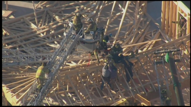 [PHI] RAW: Crews Work to Rescue Person From Collapse