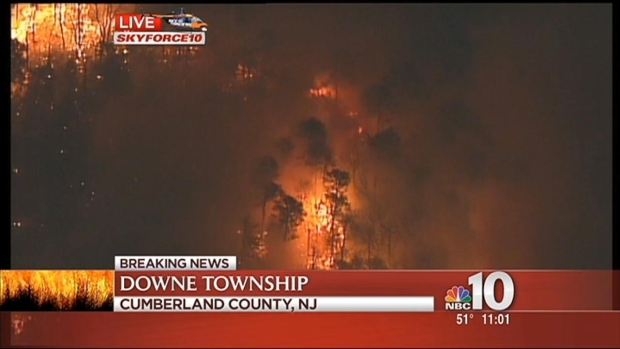 [PHI] Forest Fire Burns 1500+ Acres in South Jersey